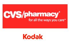 CVS/pharmacy and Kodak logos