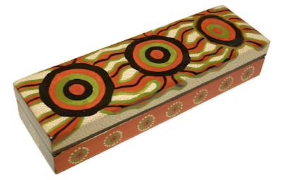 laquerware colorful pencil box