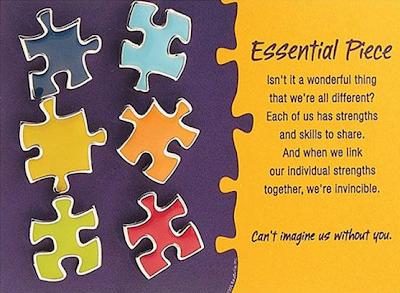 puzzle pieces pushpins