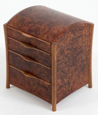 jewelry chest, three drawers