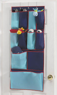 blue over door organizer