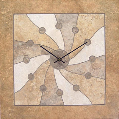 tile clock by Michael Riley