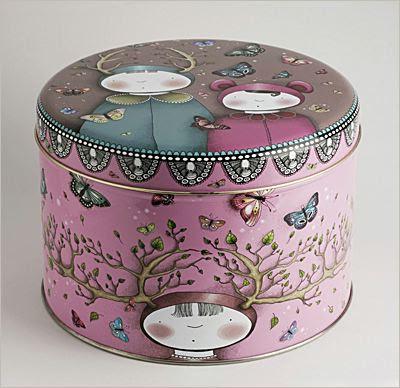round storage tin