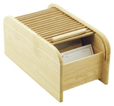 roll-top recipe box