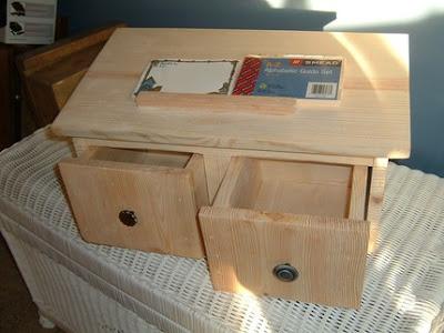 huge wood recipe box