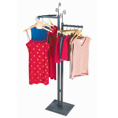 clothes rack fixture