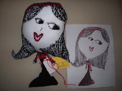 doll based on child's art