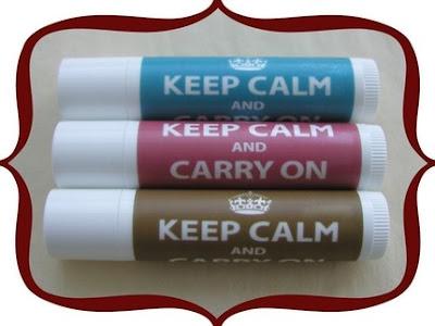 Keep Calm and Carry On Lip Balm
