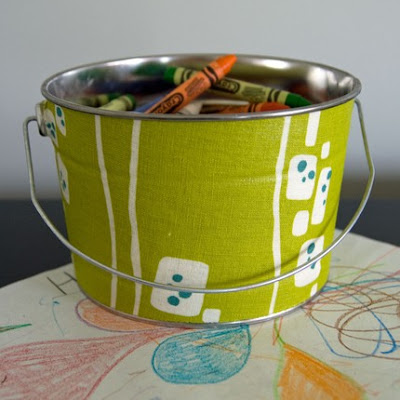 fabric-covered bucket