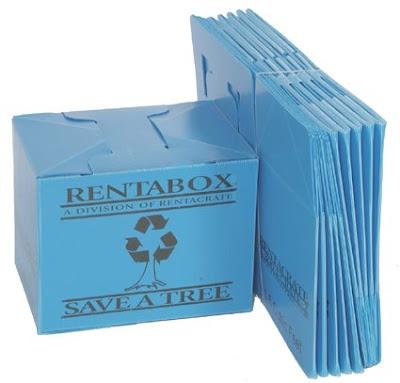 rented plastic moving box