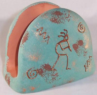 pottery napkin holder