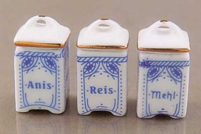 dollhouse miniature kitchen canisters