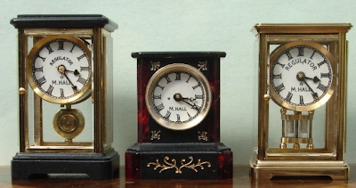 dollhouse miniatures - 3 mantle clocks