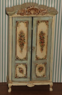 dollhouse miniature hand-painted armoire