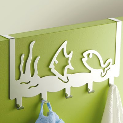 over the door hook with fish (patere poissons)