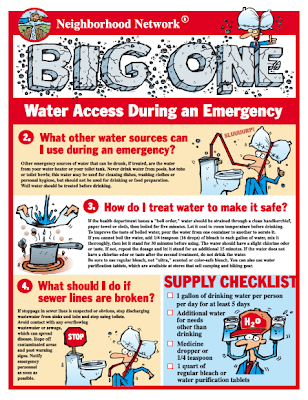 flier: water safety during a disaster