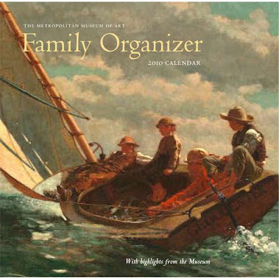 family organizer wall calendar with art