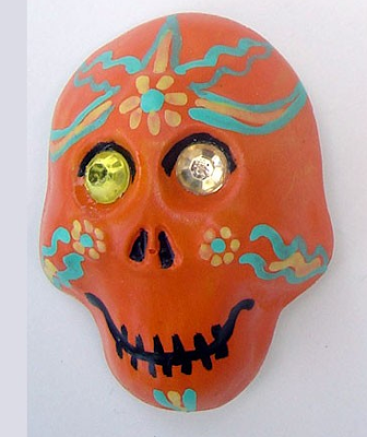 Day of the Dead skull magnet