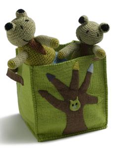 felted basket