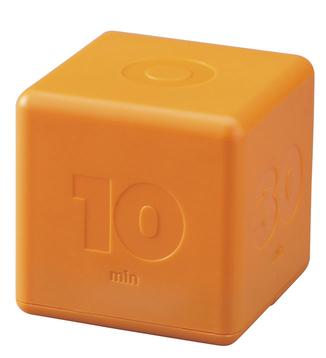 cube-shaped timer, orange