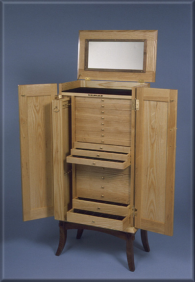 Two tone wood cabinets