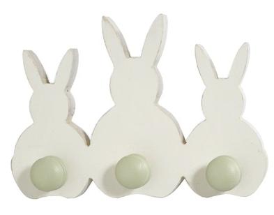 peg rack - bunny tails