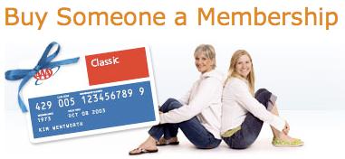 AAA gift membership card