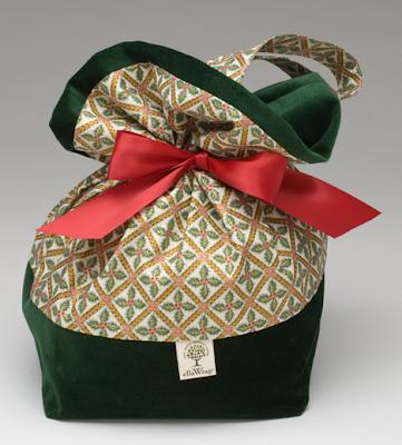 gift wrap bag velvet