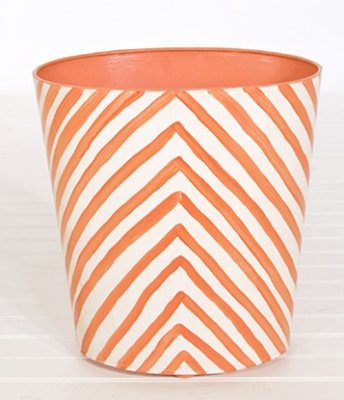 zebra stripe wastebasket