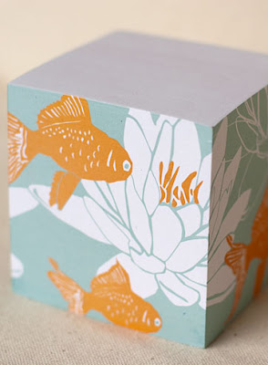 sticky notes with Koi fish