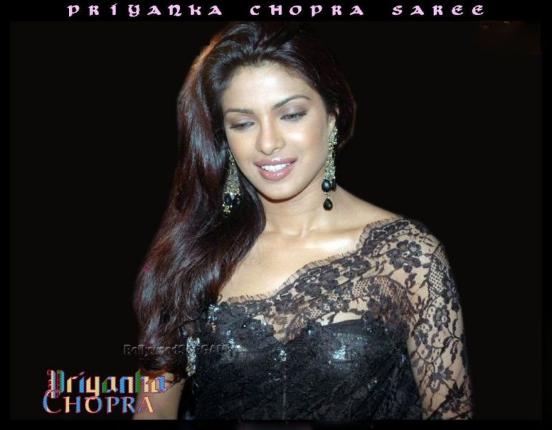 Priyanka Chopra Saree Wallpaper. Posted by soni at 11:02 AM