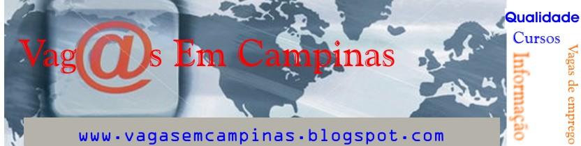 Vagas de emprego em Campinas e região