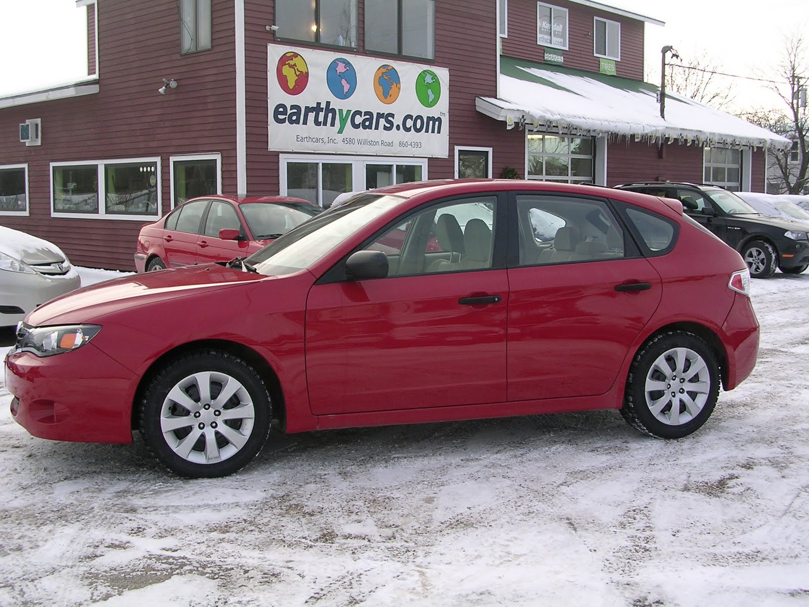 earthy cars blog: earthy car of the week: 2008 red subaru impreza 2.5