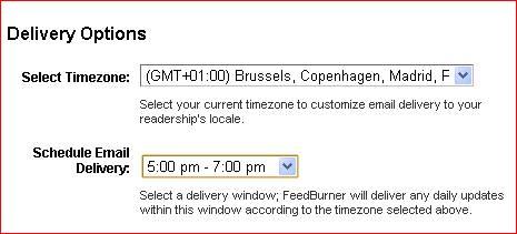programmez l'envoi de vos mail sur feedburner