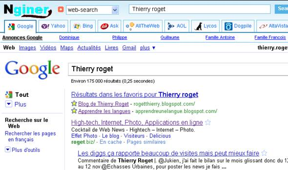 recherche sur internet
