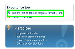 fichier opml wikio