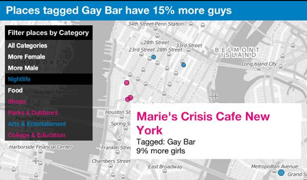 proportion de bar gay à New York