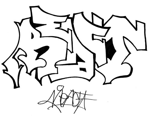 How to Draw Graffiti Alphabet