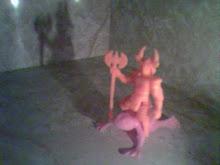 Orange Samurai, Pink Frog