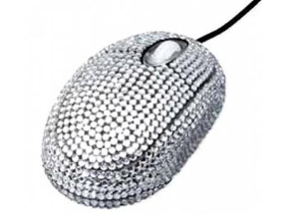 crystal computer mouse