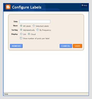 Label Cloud Untuk Blogspot