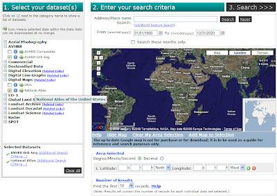 how to download usgs glovis landsat data