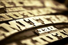impressões: linotipos, letras