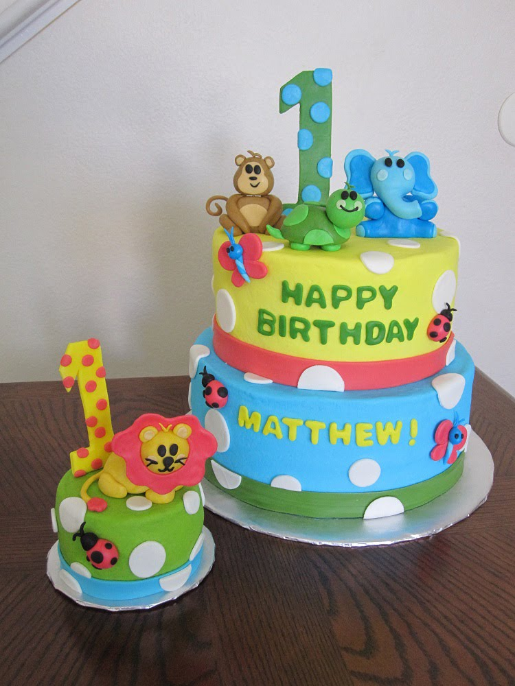 Jungle Birthday Cake Images : Ms. Cakes: Safari Friends Cake