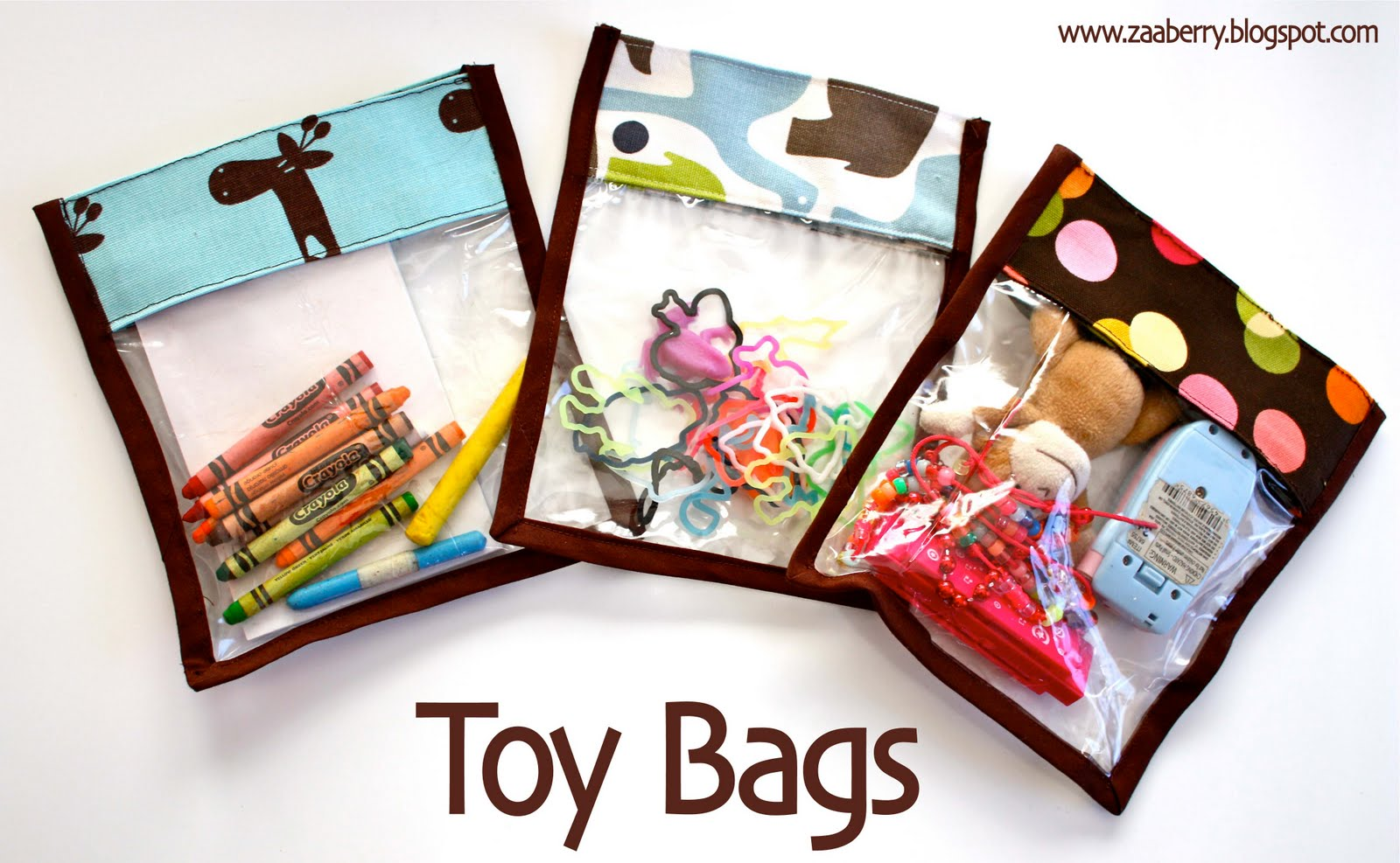 Bag Of Toys : Zaaberry toy bag tutorial