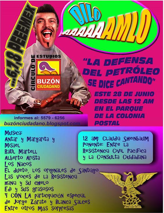 GRAN FESTIVAL EN EL BUZÓN ESTE SÁBADO 28 DE JUNIO DESDE LAS 12 AM