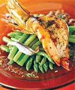 魚香蘆筍沙律拌甜辣虎蝦