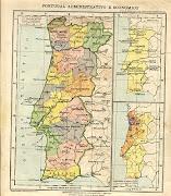 Mapa de Portugal, 1924. Atlas Dr. João Lopes Soares (mapa portugal)