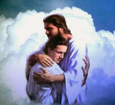 Jesus abrazando a un niño