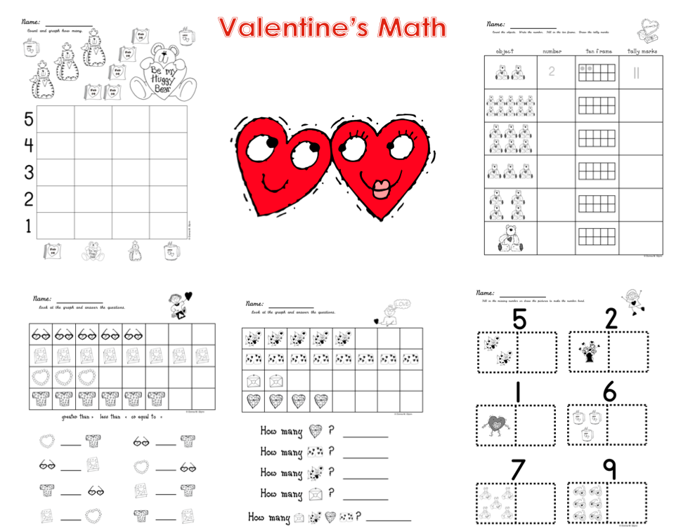 math worksheet : february math worksheets  educational math activities : Valentines Math Worksheet
